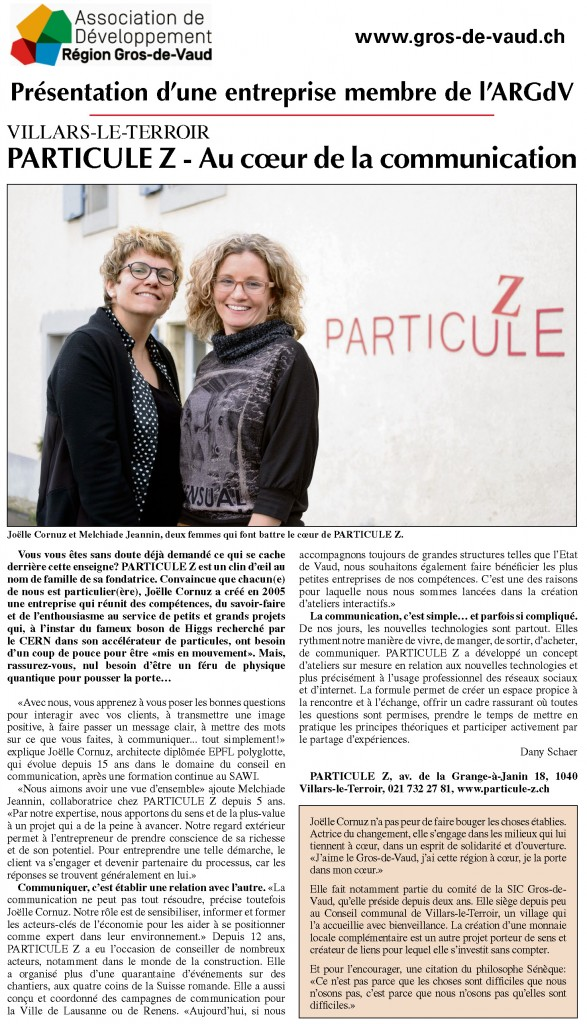 Article_Echo-Gros-de-Vaud_PARTICULE_Z_20170120
